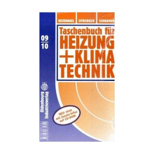 Hermann recknagel taschenbuch f r heizung klimatechnik 09 10