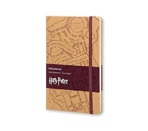 Moleskine Harry Potter Limited Edition Notebook, Large, Ruled, Blue, Hard Cover (5 x 8.25)