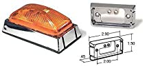 Truck-Lite 15506Y Yellow Model 15 Marker Light w/Chrome Mount