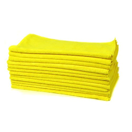 "Chemical Guys Mic_Myellow_12 - Workhorse Professional Grade Microfiber Towel, Yellow 16"" X 16"" (Pack Of 12) front-353896"