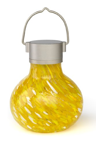 Allsop Home And Garden Solar Tea Lantern, Saffron, 1-Count