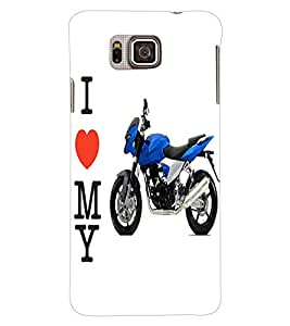 ColourCraft Bike Back Case Cover for SAMSUNG GALAXY ALPHA G850