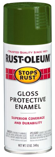 Rust-Oleum Stops Rust Spray Paint, Gloss Army Green, 12-Ounce (Military Green Spray Paint compare prices)