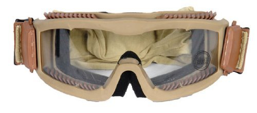 Lancer Tactical Tan CA-221T Airsoft Safety Goggles w/ Clear Lens