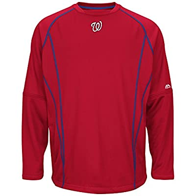Majestic Mens Washington Nationals On Field Practice Pullover