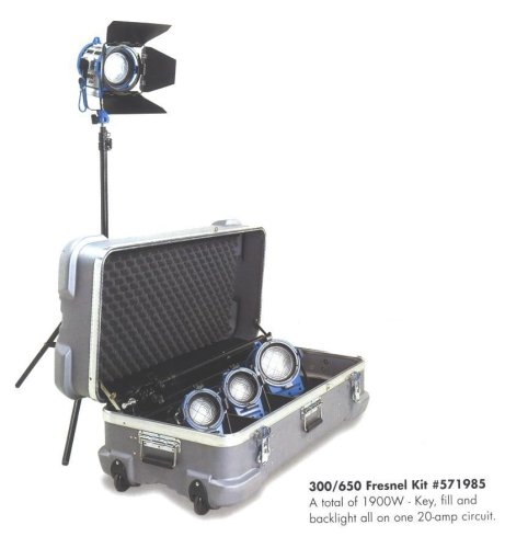 Arri 571985 300/650 Tungsten Fresnel Light Kit