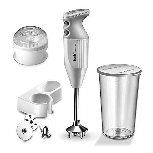 Bamix 150 Mono Immersion Blender With Bamix Mini Food Processor Bundle In White