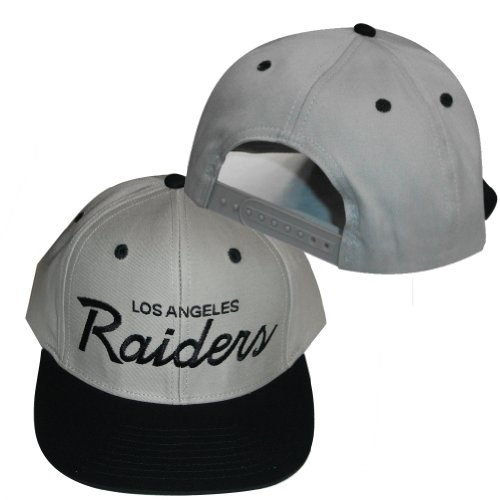 Best Discount Los Angeles Raiders Grey   Black Plastic Snapback Adjustable  Plastic Snap Back Hat  . Brand  Reebok 1410eb4e2