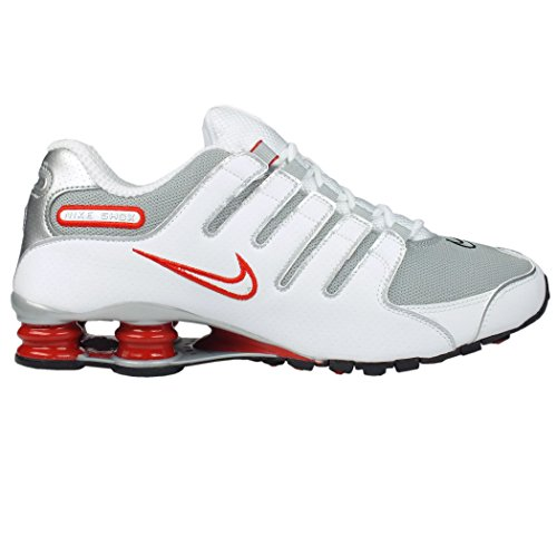 Nike Shox Nz - Sneaker per herren, white/metallic silver-sport red-cool grey-black-cool grey, größe 41