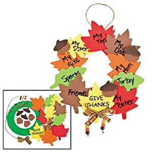 Wreath of thanks craft kit religious crafts crafts for for Thanksgiving crafts for kids church