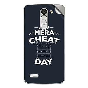 Skin4Gadgets Aaj Mera Cheat Day Phone Skin STICKER for LG L BELLO