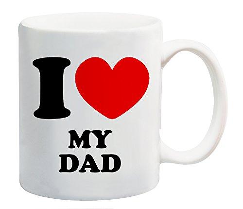 I Love Heart My Dad Tazza Regalo Famiglia