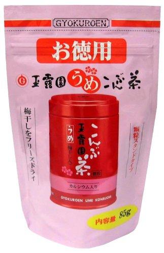 玉露園 梅こんぶ茶 お徳用スタンドパック 85g