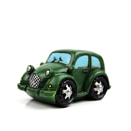 Creative Gifts Resinous Small Ornaments Vintage Car Model(Dark green 6.5cm)