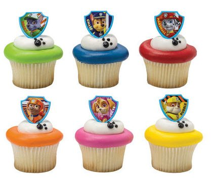 Cakesupplyshop Css894 Paw Patrol Cupcake Decoration Toppers With Baking Cups - 24Pack