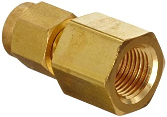 Parker A-Lok 2FSC2N-B Brass Compression Tube Fitting, Adapter, Tube OD x NPT Female