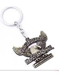 Chronowares Harley Davidson Motorcycle Key Chain Keychain High Quality Keyring Key Ring Brass