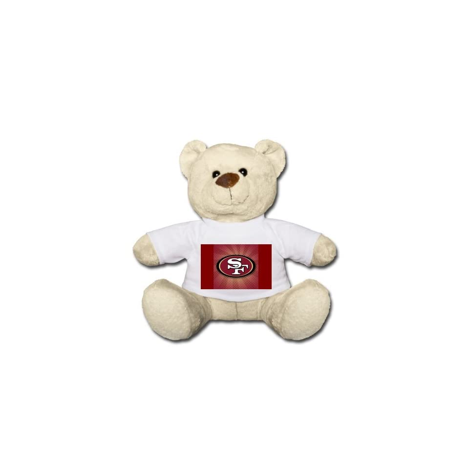 San Francisco 49ers Teddy Bear 20 Come with White T Shirts Words the Perfect Way to Let Them Know You Care Bears Coat Is 100% Cotton