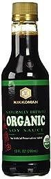 Kikkoman Organic Naturally Brewed Soy Sauce, 10 Ounce