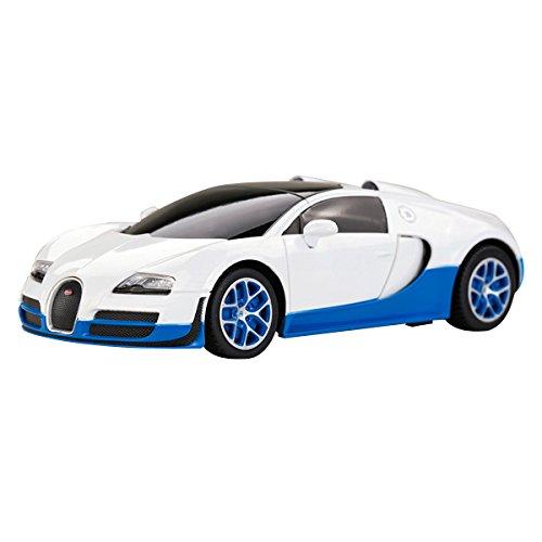 YESURPRISE Modellauto Rastar Spielauto Fernbedienung Auto Car Modell R/C 1:24 Bugatti Grand Sport Vitesse 47000 White Car Model