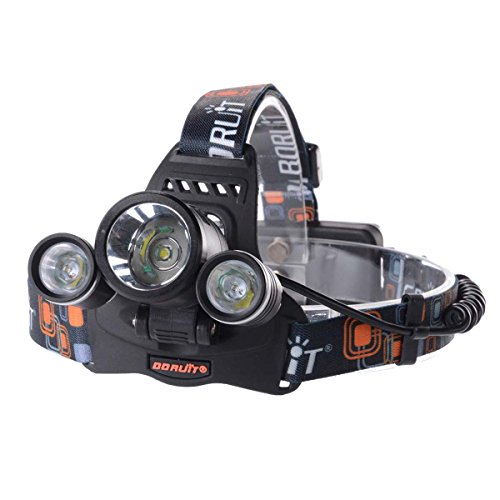 XCSOURCE® 6000LM 3x Cree XM-L T6 LED Lampe Frontale Ultra Puissant Phare Vélo Avec Chargeur 2X 18650 Batterie Lithium Rechargeable LD375