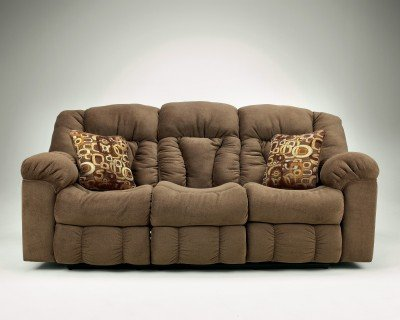 Contemporary Macie Brown Reclining Sofa