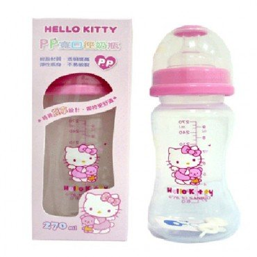 Sanrio Hello Kitty Baby Wideneck Pp Feeding Bottle 9.1oz. / 270ml BPA Free - 1
