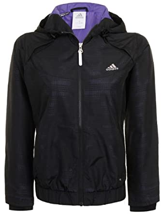 Adidas Ladies Classic Wvn Hooded Training Jacket by adidas