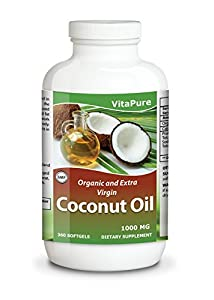 Coconut Oil 1000 Mg 360 Softgels By Vita Pure - Organic And Extra Virgin Softgels-raw Unrefined Cold Pressed Extract Pills 1000 Mg -weight Loss Diet Benefits-best For Healthy Heartbodyskinhair-perfectly Natural Uses For Dry Skin Care-good For Hair Care Be