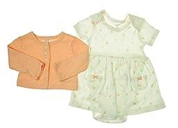 Carter\'s Baby Girls\' 2 Piece Dress Set (Baby) - White - 9 Months