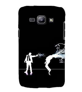 EPICCASE Shoot him Mobile Back Case Cover For Samsung Galaxy J1 (Designer Case)