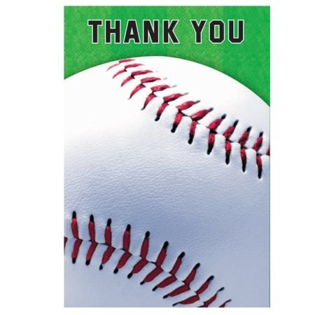 Baseball Folded Thank You Notes (8 Pack)