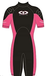 Childs 3mm TIC Titanium Shortie wetsuit Pink Size K04 Age 3-4
