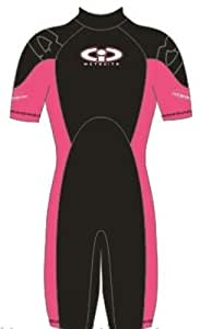 Childs 3mm TIC Shortie Wetsuit Pink Size K02 Age 1-2