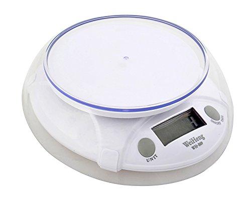 Balance de cuisine électronique / pesée 7kg / 1g, plateau de mesure 12cm, WH-B09-7kg1g