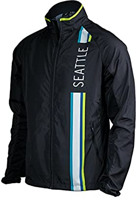 Black with Blue & Green - Seattle Men's Jacket