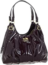 Big Sale Coach Madison Patent Leather Maggie Shoulder Hobo Bag Purse 18760 Plum
