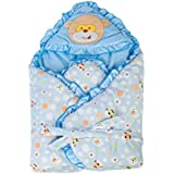 Mee Mee MM-98023C Baby Warm Wrapper Cum Blanket With Hood (Blue)