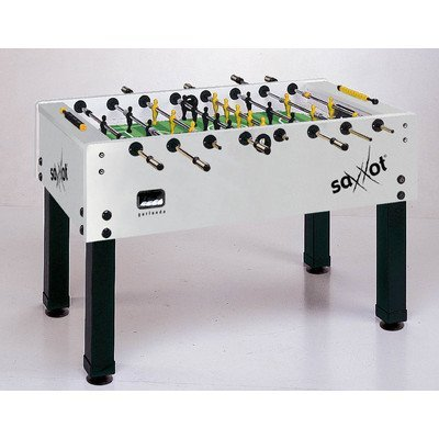 The professional level Garlando Master Cup Saxxot Foosball Table combines quality construction with innovative features for a really unique look and superior foosball action.