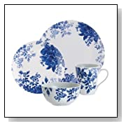 Dinnerware Tatnall Street 16 Piece Dinnerware Set in Blue