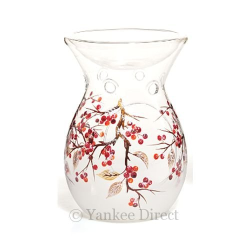 Yankee Candle Red Berries Crackle Glass Melt / Tart Warmer (New for 2013)