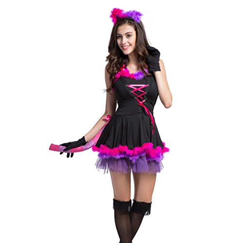 Ladies Sexy Women's Wild Cat/Catwoman Halloween Fancy Dress Costume