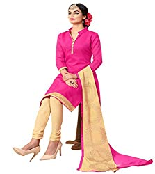 Krishna Present All New Design Of Pink Color Cotton Dress Material With Dupatta..
