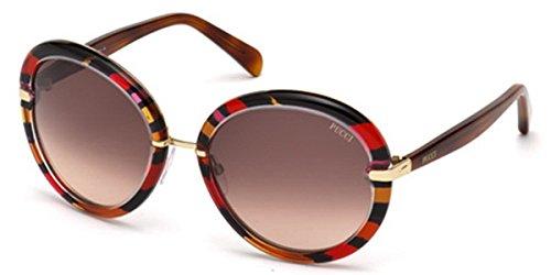 emilio-pucci-ep0012-rotondo-acetato-metallo-donna-red-fantasy-burgundy-dark-brown-shaded77f-57-19-13