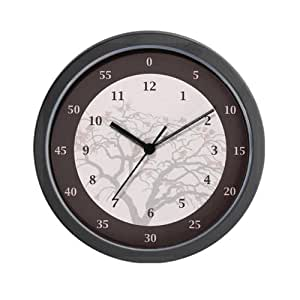 Hours And Minutes Wall Clock With Tree Image Wall Clock Home Kitchen