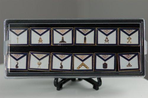 Lapel Pin Set Masonic Officers (12 Pins)