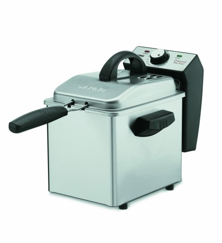 Waring Pro DF55 Professional Mini 1-2/7-Pound-Capacity Stainless-Steel Deep Fryer