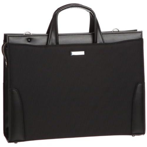 [バジェックス] BAGGEX 鋼 ナイロン製ビジネスブリーフ 天ジッパータイプ A4ファイル対応 日本製 24-0274 BK (BLACK)