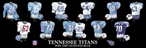 Framed Evolution History Tennessee Titans Uniforms Print by The Greatest-Scapes