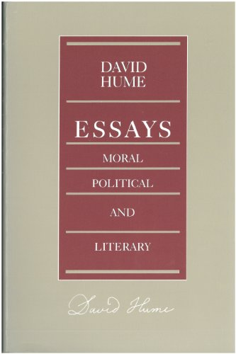 essays moral political and literary volume 1